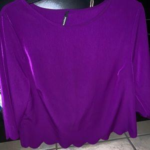 Purple scallop top